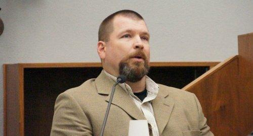 Agent Derek Hester took the gun away.  Photo Weatherston.