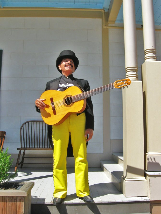 """You can find this musician at Old Town San Diego State Historic Park.  This old town of San Diego, CA. is  a must see when you come and visit.  Enjoy... """"it's a Vilma!""""  -Vilma Ruiz Pacrem"""