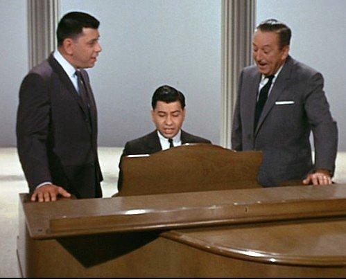 Robert B. Sherman, Richard M. Sherman and Walt Disney.