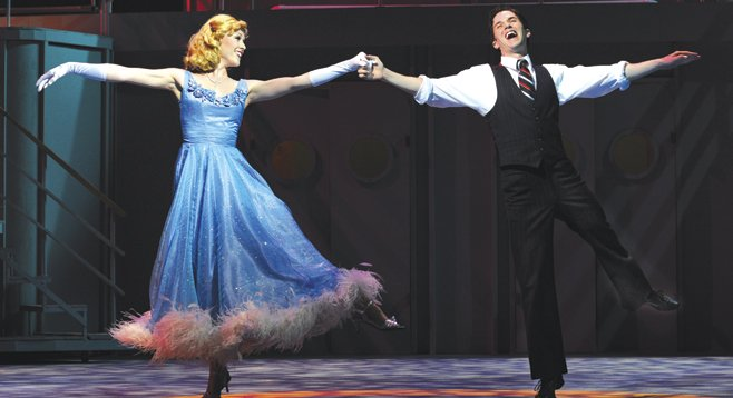 In Cole Porter's Anything Goes, a Wall Street broker does a dumb thing — he falls in love.