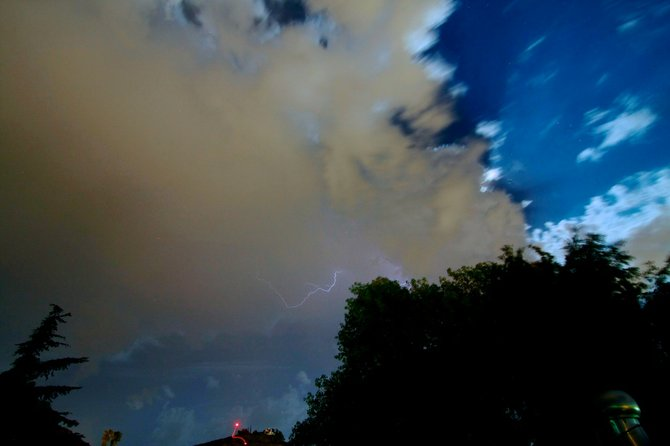 Lightning storm in El Cajon 8/28/12