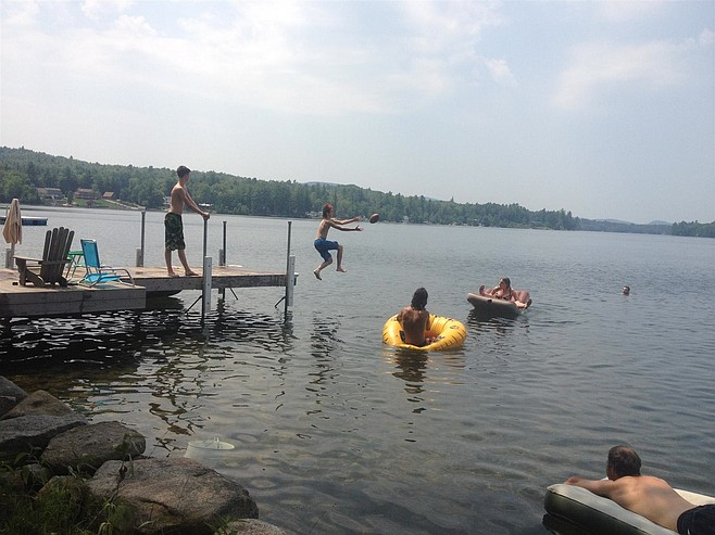 Summertime means everybody's in the water.