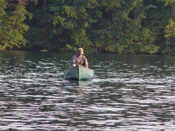 canoe fly-fishing