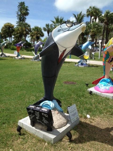 Seafood was everywhere, from grouper sandwiches to Clearwater's artistic dolphins greeting visiting Republicans during Tampa's RNC. (Photo courtesy of William Mahar)