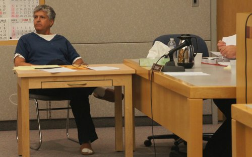 Michael Theodore Pines in court August 2012.  Photo Weatherston.