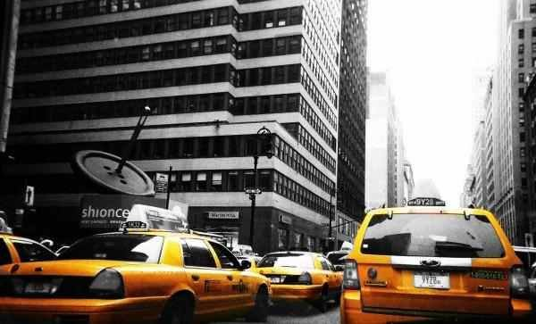 Yellow is the primary color in NYC.