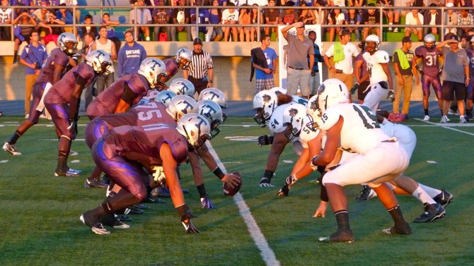 The line of scrimmage between Eastlake and Helix