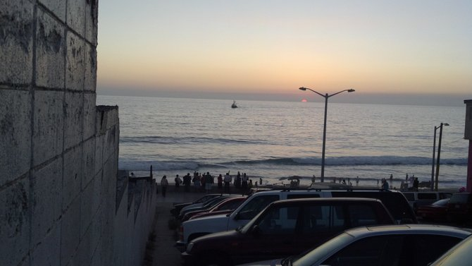 Another beautiful sunset in Playas de TIjuana.