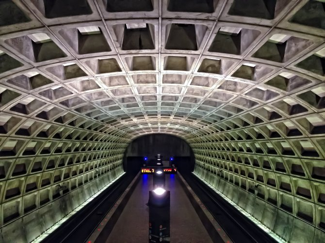 Inside the belly of the beast - D.C. metro station (Rosslyn, Virginia stop).