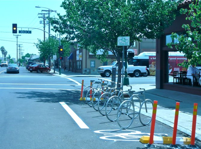 There is even more free parking for cyclists in SD's Art District.