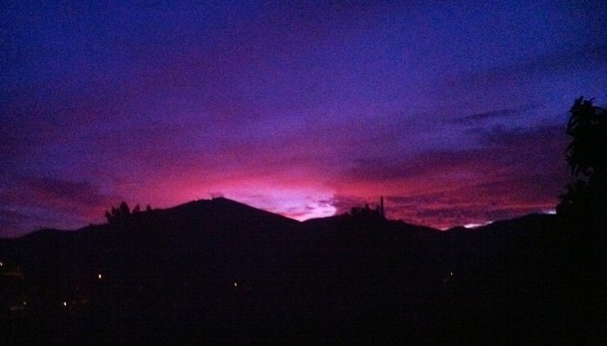 Sunrise from Spring Valley, CA in Jan. 2012