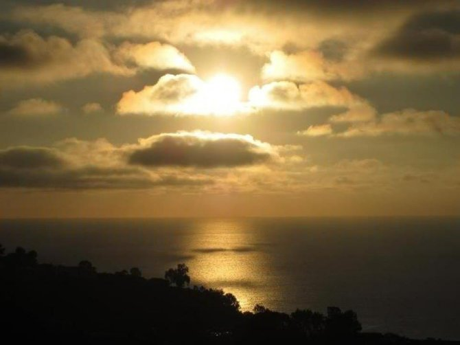Sunset picture from Mt. Soledad in La Jolla on July 6, 2012.