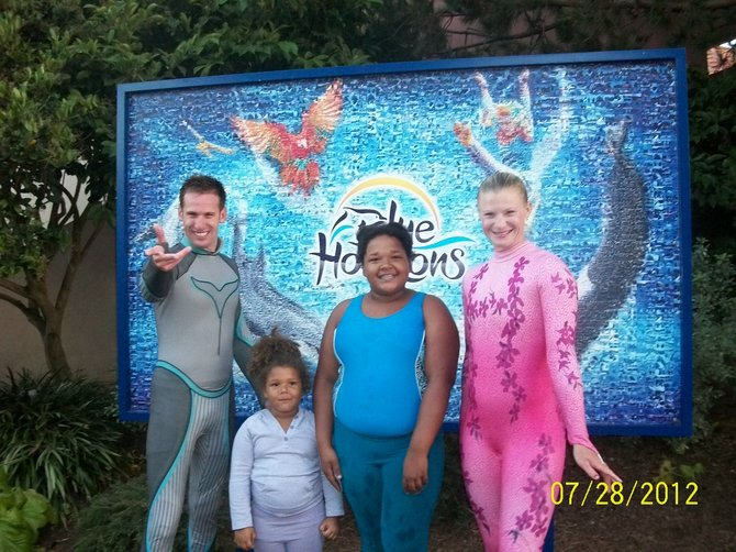 Desirae and Jazmine at Sea World