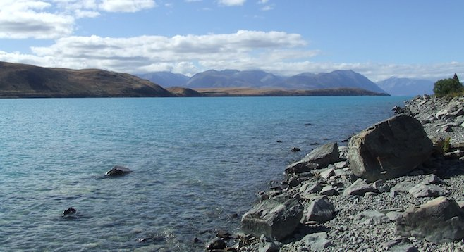 Alongside the turquoise waters of New Zealand's Lake Tekapo.