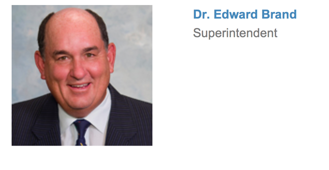 Ed Brand's true title of interim superintendent of the Sweetwater Union High School District is not accurately reflected on the district's website.