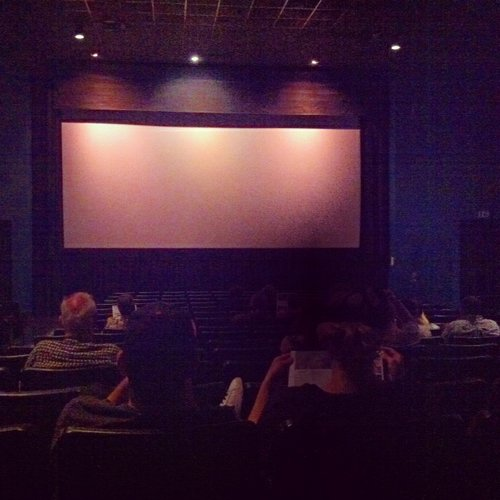 waiting for the movie to start