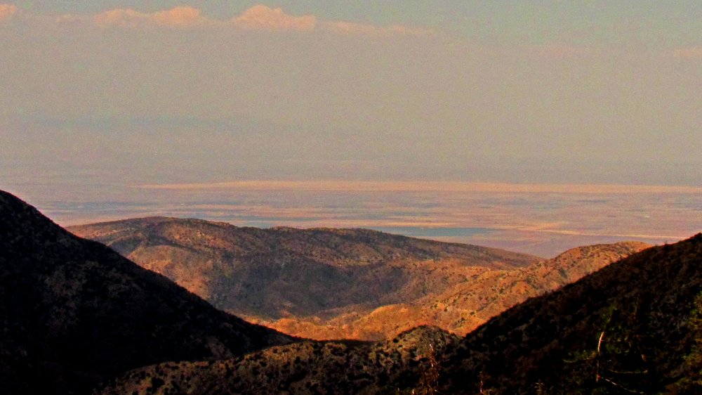 Angeles Crest: looking north towards the Mojave from the 7,901-foot Dawson Saddle.