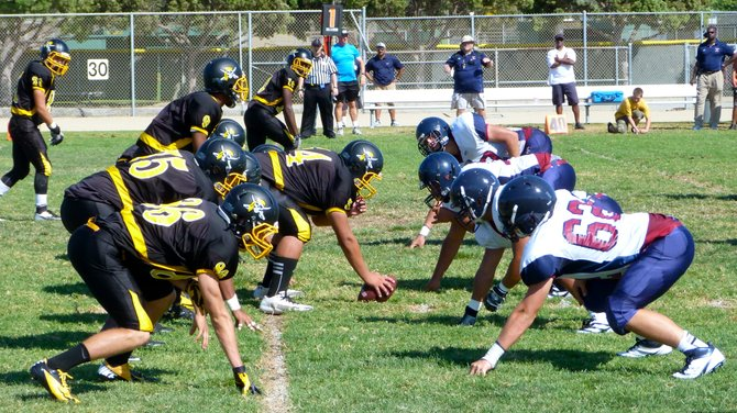 The line of scrimmage between Mission Bay and Horizon