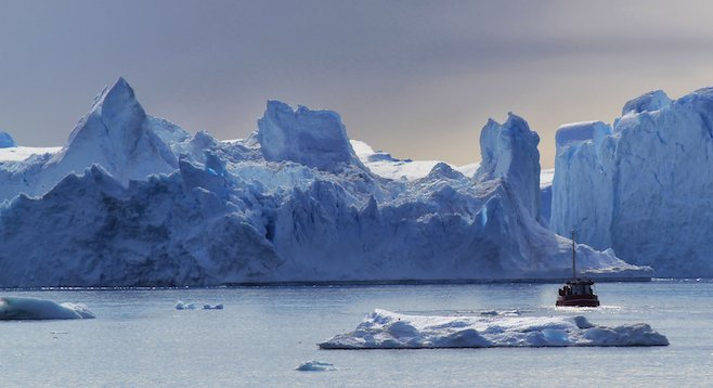 The temporal beauty of icebergs in Greenland's Disko Bay.
