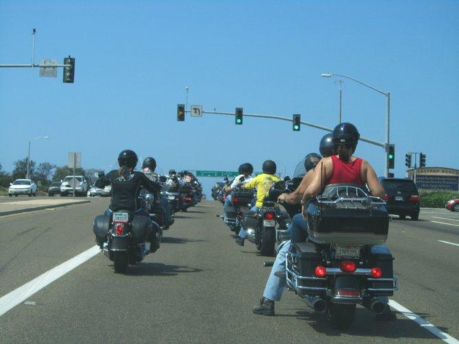 My Presidential motorcade in Carlsbad :)