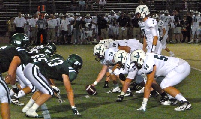 The line of scrimmage between La Costa Canyon and Poway