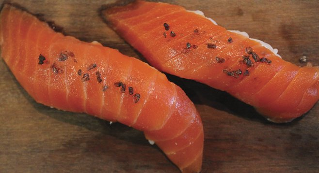 """The sockeye salmon was """"an expression of the fish so pure"""" that sushi purists will  """"go ga-ga."""""""