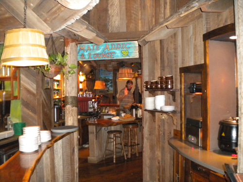Inside the woody, hand-carved Yellow Deli