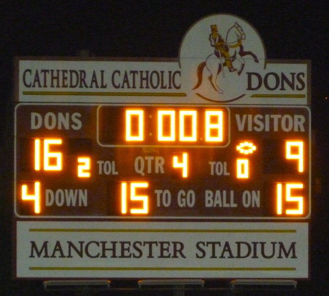 Final score - Cathedral Catholic 16, Helix 9
