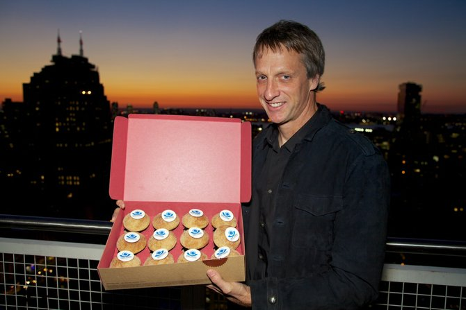 Sprinkles Cupcakes Founder and judge of Food Network's Cupcake Wars, Candace Nelson and Professional Skateboarder, Tony Hawk will be joining forces to help support The Tony Hawk Foundation, which focuses on the creation of public skateboard parks in low-income communities.  Nelson and Hawk will be handing out cupcakes to fans at the La Jolla Sprinkles Cupcakes located in The Shops at La Jolla Village from 1-3pm on Friday, September 21st where 100% of the weekend's sales (9/21 – 9/23) from all ten Sprinkles stores of Tony's favorite cupcake, the Cinnamon Sugar, will be donated to The Tony Hawk Foundation.