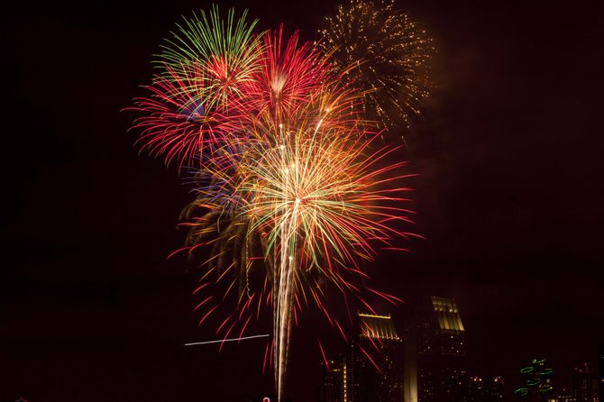 Fireworks on the San Diego Bay from Coronado