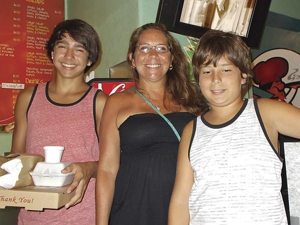 Matthew, mom Tammy, Eric
