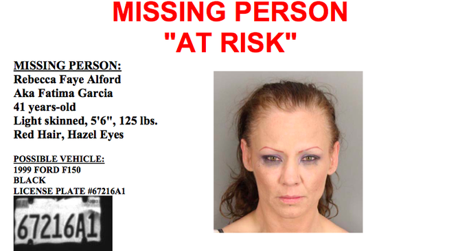 """Sheriff's department bulletin issued at time of Alford's """"disappearance"""" in June"""