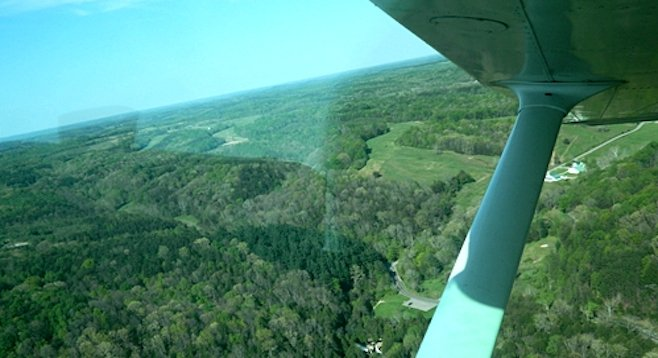 Ohio's Hocking Hills, from the bird's eye view of a four-seater plane.