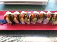 Hot and savory, the caterpillar roll makes ample use of eel