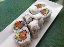 Even a simple salmon or tuna roll contains plenty of fish
