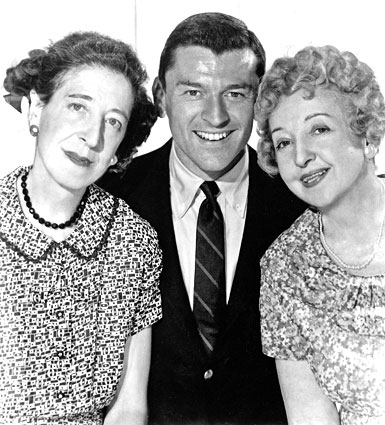 "Doro Merande, Frank Aletter, and Enid Markey starred on the sitcom ""Bringing up Buddy."""