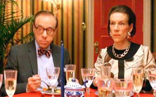 "Peter Bogdanovich as Bennett Cerf and Juliet Stevenson as Diana Vreeland in ""Infamous"" (2006)."