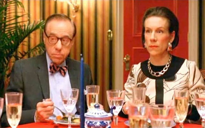 "Peter Bogdanovich as Bennett Cerf and Juliet Stevenson as Diana Vreeland in ""Infamous"" (2006)."