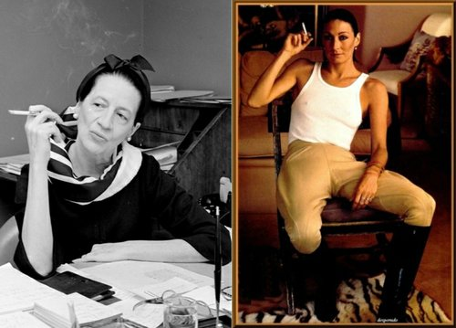 Diana Vreeland and Anjelica Huston.
