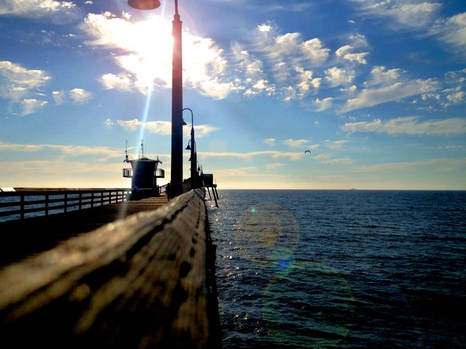 This picture was taken at the Imperial Beach pier.