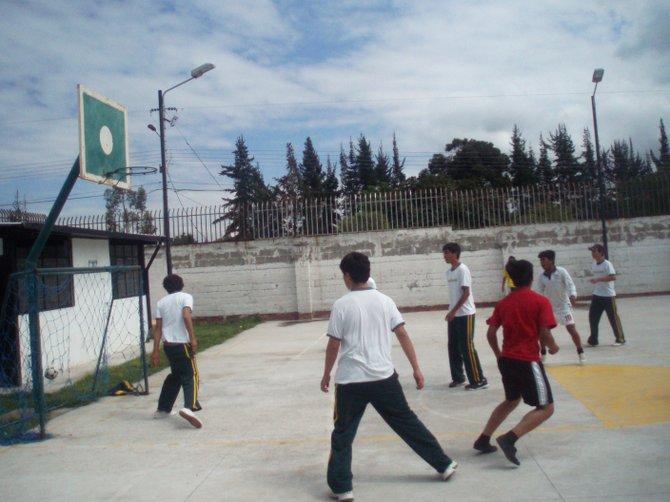 GOOOAAALL! A friendly soccer game near Quito, Ecuador