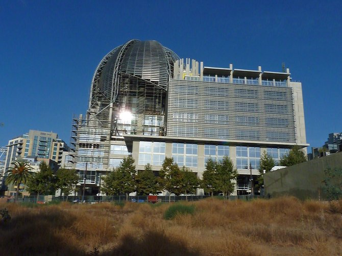 New San Diego LIbrary under construction.