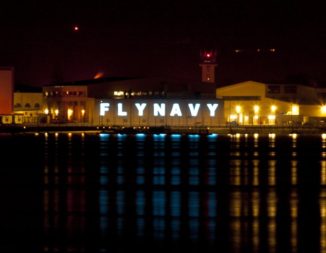 Fly Navy sign in Coronado