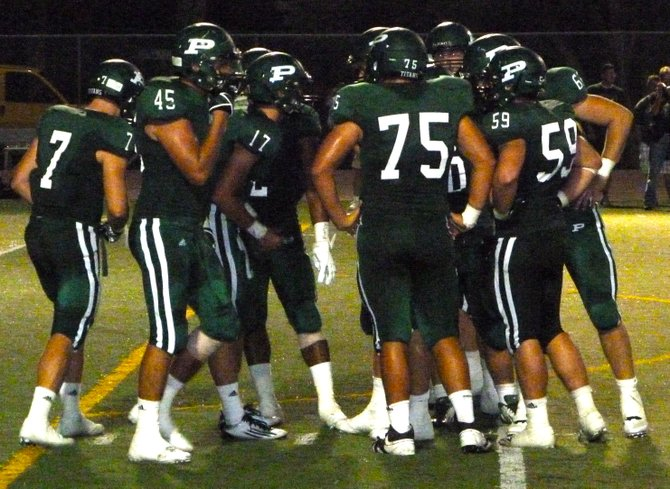 Poway in the offensive huddle