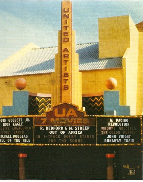 Remember when UA Horton Plaza had a three-sided marquee?