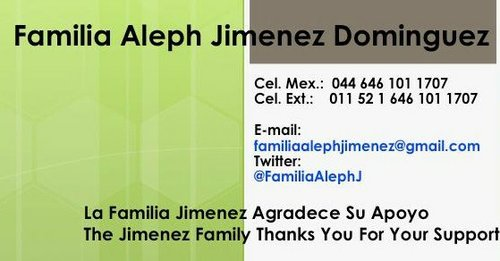 Photos from the Familia Aleph Jimenez Dominguez facebook page