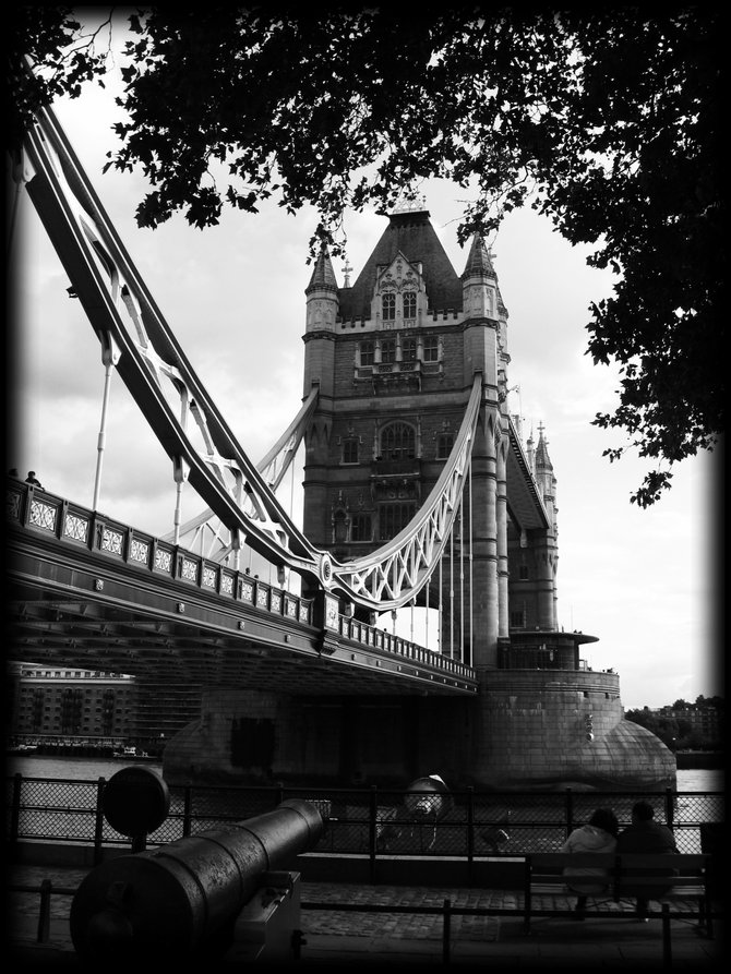The Tower Bridge, Central London, England
