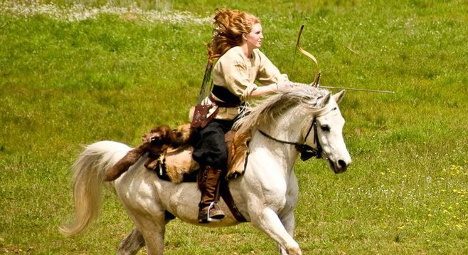 """Katie Stearns: """"The feeling, that first time, of nailing a bull's eye at the gallop, on horseback...amazing."""""""