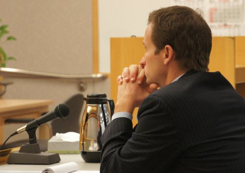 Prosecutor Benjamin Barlow. Photo Weatherston.