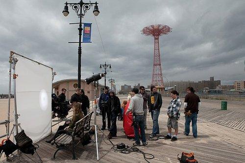 Location shoot at Coney Island.